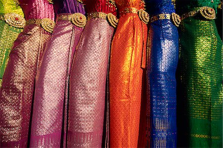 silk - Thailand,Bangkok,Traditional Silk Dresses Stock Photo - Rights-Managed, Code: 849-03645166