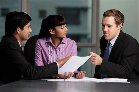 mixed raced group talking business Stock Photo - Rights-Managed, Code: 849-03645458