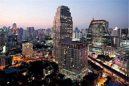 Thailand,Bangkok,Silom Area Skyline Stock Photo - Rights-Managed, Code: 849-03645667