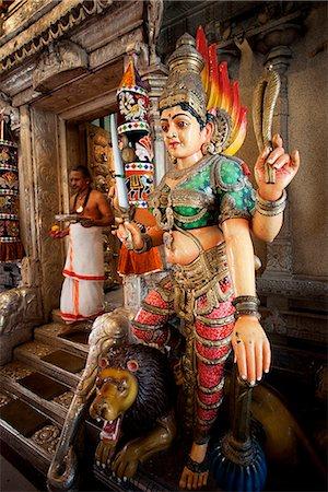 Singapore,Little India,Sri Veerama-kaliamman Hindu Temple,Statue of Lakshmi Stock Photo - Rights-Managed, Code: 849-03645731