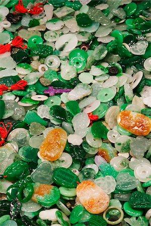 Jade charms at the Jade Market, Hong Kong, China Stock Photo - Rights-Managed, Code: 849-03901119