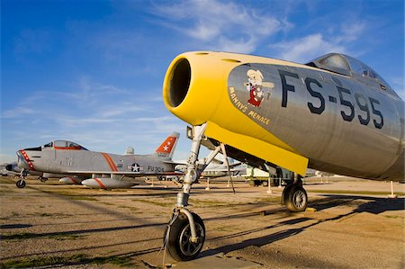 Republic F-84C Thunderjet at March Field Air Museum, Riverside County, California, United States of America, North America Stock Photo - Rights-Managed, Code: 841-05784512