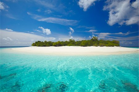 Uninhabited island, Maldives, Indian Ocean, Asia Stock Photo - Rights-Managed, Code: 841-05784850