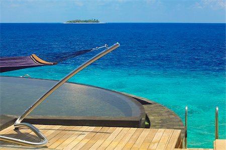 View from watervilla, Maldives, Indian Ocean, Asia Stock Photo - Rights-Managed, Code: 841-05784852