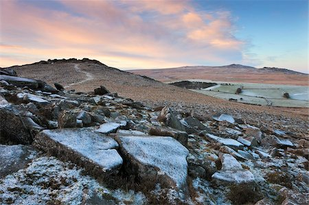 dartmoor national park - Frost covered Belstone Tor in winter, Dartmoor National Park, Devon, England, United Kingdom, Europe Stock Photo - Rights-Managed, Code: 841-05785193