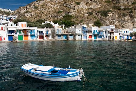 The village of Klima, Island of Milos, Cyclades, Greek Islands, Greece, Europe Stock Photo - Rights-Managed, Code: 841-05785393