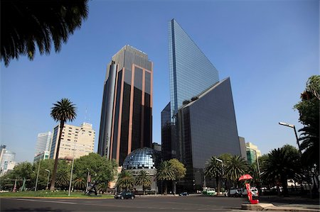 stock exchange building - Mexican Stock Exchange Building, Centro Bursatil, Paseo de la Reforma, Reforma, Mexico City, Mexico, North America Stock Photo - Rights-Managed, Code: 841-05785522