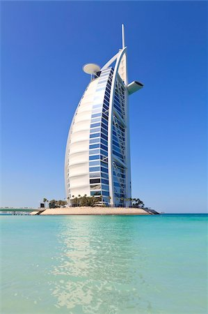 Burj Al Arab Hotel, Jumeirah Beach, Dubai, United Arab Emirates, Middle East Stock Photo - Rights-Managed, Code: 841-05785622