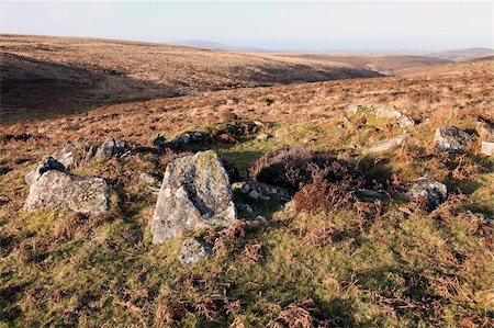 prehistoric - Bronze Age, ruined house, Dartmoor, Devon, England, United Kingdom, Europe Stock Photo - Rights-Managed, Code: 841-05781084