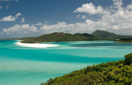 queensland - Whitehaven Beach and Hill Inlet, Whitsunday Island, Queensland, Australia, Pacific Stock Photo - Rights-Managed, Code: 841-05781223