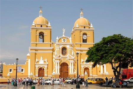 placing - Main square and cathedral, Trujillo, Peru, South America Stock Photo - Rights-Managed, Code: 841-05781230