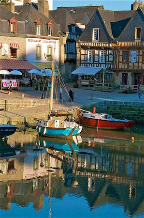 River Loch and harbour, St. Goustan, Auray, Brittany, France, Europe Stock Photo - Rights-Managed, Code: 841-05782126