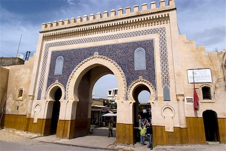 placing - Blue Gate (Bab Boujloude), Fez, Morocco, North Africa, Africa Stock Photo - Rights-Managed, Code: 841-05782189