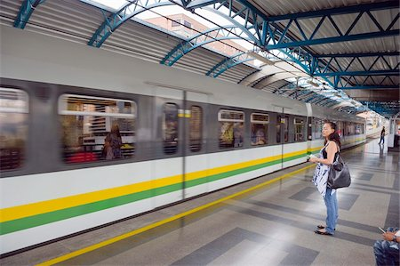 platform - Metro line passengers, Medellin, Colombia, South America Stock Photo - Rights-Managed, Code: 841-05782694