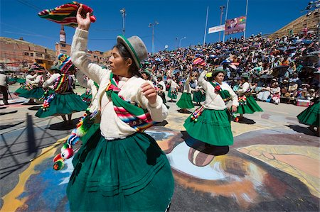 south american woman - Women dancing, Anata Andina harvest festival, Carnival, Oruro, Bolivia, South America Stock Photo - Rights-Managed, Code: 841-05782802