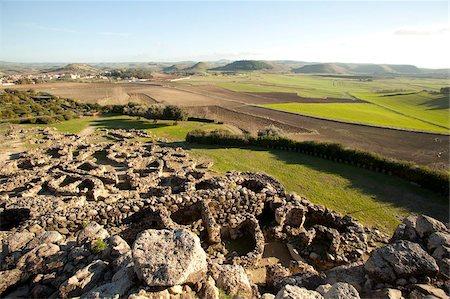 prehistoric - Su Nuraxi di Barumini, the ruins of largest Nuraghi settlement in the island, UNESCO World Heritage Site, Barumini, Sardinia, Italy, Europe Stock Photo - Rights-Managed, Code: 841-05782986