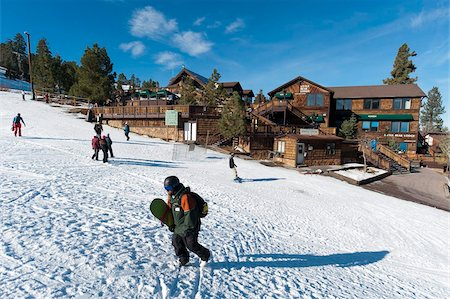 placing - Ski Resort, Big Bear Lake, California, United States of America, North America Stock Photo - Rights-Managed, Code: 841-05783152