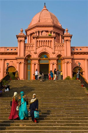 dhaka - The pink coloured Ahsan Manzil palace in Dhaka, Bangladesh, Asia Stock Photo - Rights-Managed, Code: 841-05794832