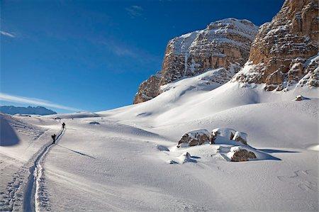 recreation - Ski touring, ski mountaineering in the Dolomites, Piz Boe, eastern Alps, Bolzano, South Tyrol, Italy, Europe Stock Photo - Rights-Managed, Code: 841-05795232
