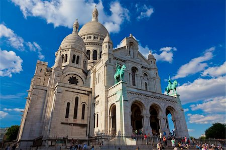 Basilica of Sacre Coeur, Montmartre, Paris, France, Europe Stock Photo - Rights-Managed, Code: 841-05795285