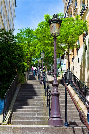 Montmartre Steps, immortalized in many paintings and photographs, Montmartre, Paris, France, Europe Stock Photo - Rights-Managed, Code: 841-05795287