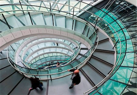 spiral - Helical staircase, City Hall, London, England, United Kingdom, Europe Stock Photo - Rights-Managed, Code: 841-05795591