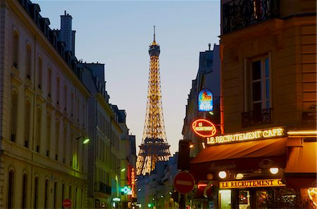 Eiffel Tower in the evening, Paris, France, Europe Stock Photo - Rights-Managed, Code: 841-05796564