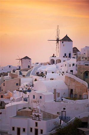 santorini island - Oia (Ia) village and windmill, Santorini, Cyclades, Greek Islands, Greece, Europe Stock Photo - Rights-Managed, Code: 841-05796740