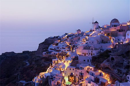 santorini island - Oia (Ia) village and windmill, Santorini, Cyclades, Greek Islands, Greece, Europe Stock Photo - Rights-Managed, Code: 841-05796743