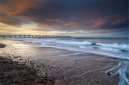 A beautiful spring sunset at Saltburn, North Yorkshire, England, United Kingdom, Europe Stock Photo - Rights-Managed, Code: 841-05796986
