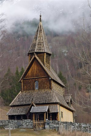 stave - Exterior of Urnes Stave church built in 1150 overlooking the Sognefjord, UNESCO World Heritage Site, Luster village, Norway, Scandinavia, Europe Stock Photo - Rights-Managed, Code: 841-05797075