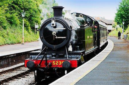 platform - Dartmouth and Paignton Railway, Kingswear Station, Dartmouth, Devon, England, United Kingdom, Europe Stock Photo - Rights-Managed, Code: 841-05845768