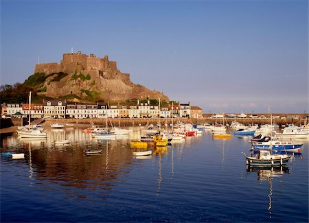 Mont Orgeuil castle, Gorey, Jersey, Channel islands, United Kingdom, Europe Stock Photo - Rights-Managed, Code: 841-05845800