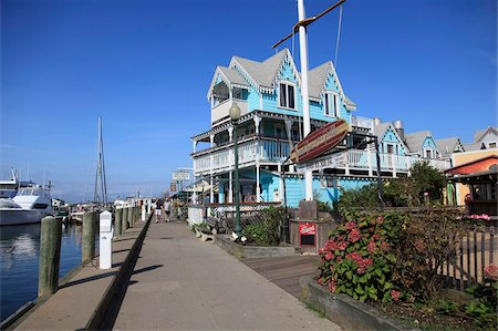 Victorian Architecture, Oak Bluffs, Marthas Vineyard, Massachusetts, New England, United States of America, North America Stock Photo - Rights-Managed, Code: 841-05846731