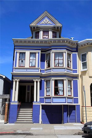 Victorian House architecture, Haight Ashbury District, The Haight, San Francisco, California, United States of America, North America Stock Photo - Rights-Managed, Code: 841-05846820
