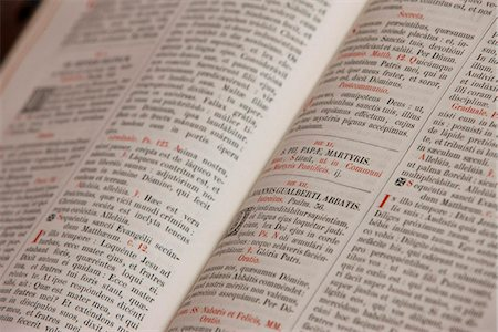 Latin Bible, France, Europe Stock Photo - Rights-Managed, Code: 841-05846876