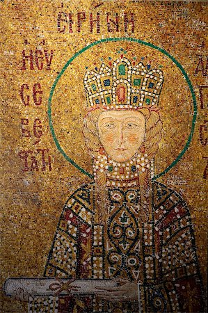 scroll (design) - Mosaic of Empress Irene holding a scroll, Hagia Sophia, Istanbul, Turkey, Europe Stock Photo - Rights-Managed, Code: 841-05846932