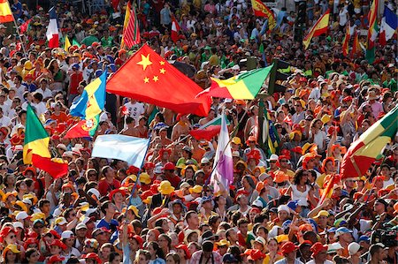 Crowd of pilgrims at World Youth Day, Madrid, Spain, Europe Stock Photo - Rights-Managed, Code: 841-05847020