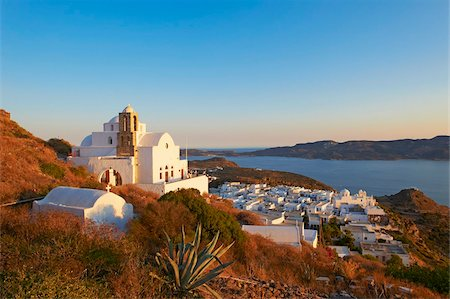 Kastro and the church Ipapanti, Plaka, old village, Milos, Cyclades Islands, Greek Islands, Aegean Sea, Greece, Europe Stock Photo - Rights-Managed, Code: 841-05847485