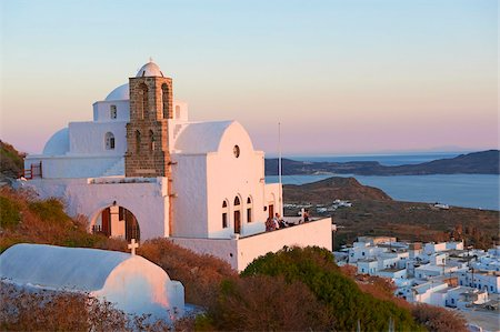 Kastro and the church Ipapanti, Plaka, old village, Milos, Cyclades Islands, Greek Islands, Aegean Sea, Greece, Europe Stock Photo - Rights-Managed, Code: 841-05847486