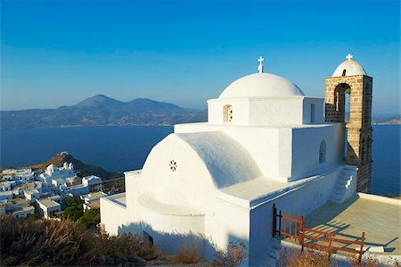 Kastro and the church Ipapanti, Plaka, old village, Milos, Cyclades Islands, Greek Islands, Aegean Sea, Greece, Europe Stock Photo - Rights-Managed, Code: 841-05847487