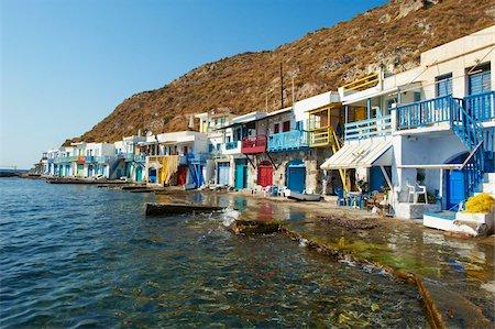 Old fishing village of Klima, Milos, Cyclades Islands, Greek Islands, Aegean Sea, Greece, Europe Stock Photo - Rights-Managed, Code: 841-05847499