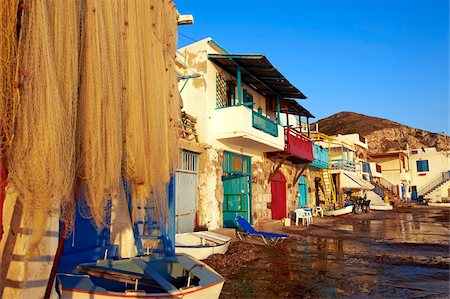 Old fishing village of Klima, Milos, Cyclades Islands, Greek Islands, Aegean Sea, Greece, Europe Stock Photo - Rights-Managed, Code: 841-05847502
