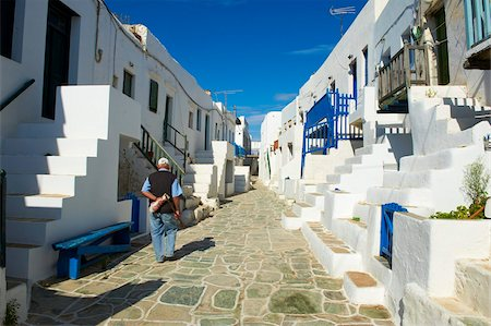 The Chora village, Kastro, Folegandros, Cyclades Islands, Greek Islands, Greece, Europe, Stock Photo - Rights-Managed, Code: 841-05847530
