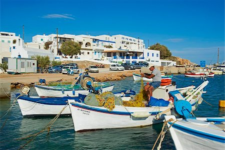 Karavostasis village and principal port, Folegandros, Cyclades Islands, Greek Islands, Aegean Sea, Greece, Europe Stock Photo - Rights-Managed, Code: 841-05847533