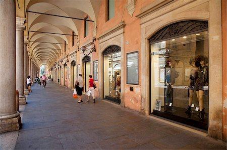 Arcade of shops, Modena, Emilia Romagna, Italy, Europe Stock Photo - Rights-Managed, Code: 841-05847865