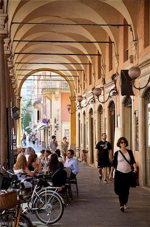 Arcade cafe, Modena, Emilia Romagna, Italy, Europe Stock Photo - Rights-Managed, Code: 841-05847868