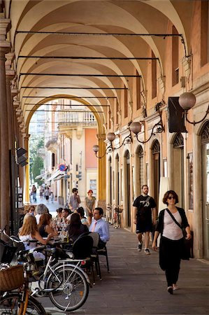 Arcade cafe, Modena, Emilia Romagna, Italy, Europe Stock Photo - Rights-Managed, Code: 841-05847868
