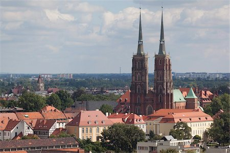 Cathedral view from Marii Magdaleny Church, Wroclaw, Silesia, Poland, Europe Stock Photo - Rights-Managed, Code: 841-05848018
