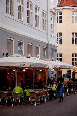 street cafe day - City cafe at dusk, Copenhagen, Denmark, Scandinavia, Europe Stock Photo - Rights-Managed, Code: 841-05848100